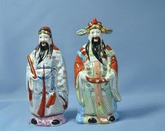 hnliche artikel wie chinesische wiseman figur reichtum gl ck chinesische feng shui luk statue. Black Bedroom Furniture Sets. Home Design Ideas