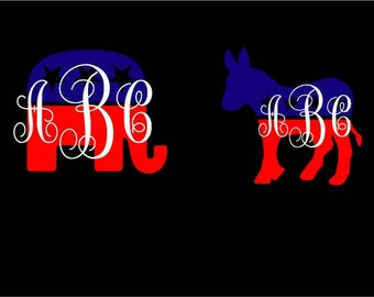 Democrat Sticker Etsy - Custom vinyl window stickers   for your political campaign