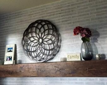 Handmade Rustic Distressed Wood Mantel/Floating Shelf