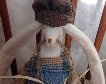 "Primitive wool bunny, ""Burt"""