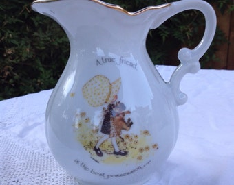 Simply Lovely Retro 1970s Holly Hobbie Pitcher