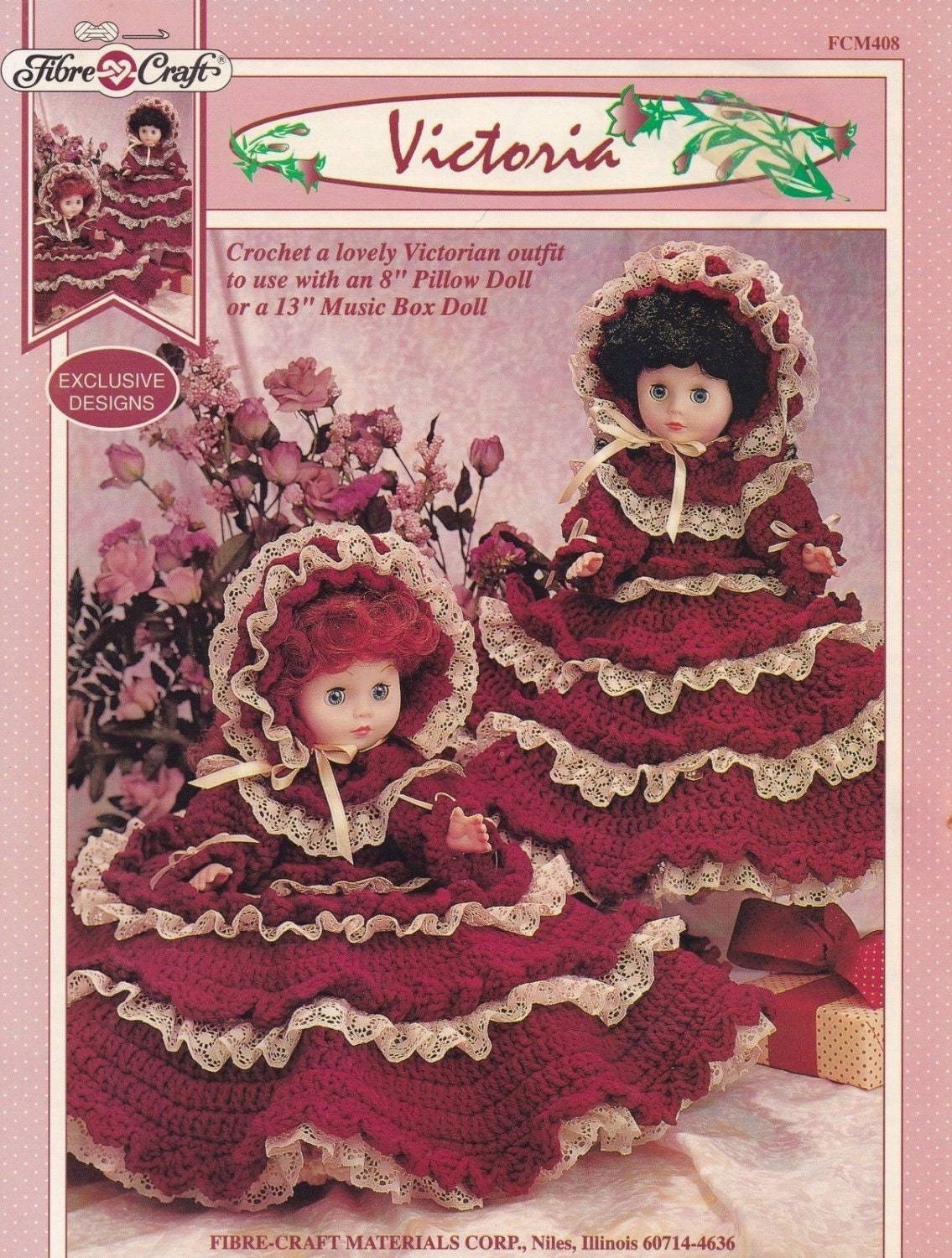 Victoria fibre craft victorian doll clothes crochet pattern for Fibre craft 18 inch doll