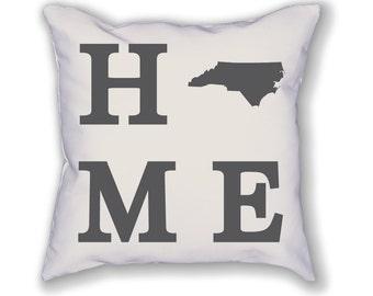 North Carolina Home State Pillow