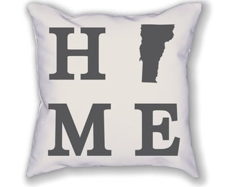 Vermont Home State Pillow