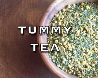 TUMMY TEA • organic herbal tea blend • upset stomach, stomach pain, bloating, gastric cramps