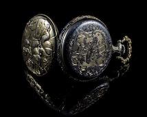 La Cloche gold tone pocket watch  swiss made (working)