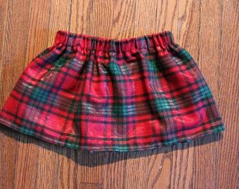 Christmas Plaid Made-to-Order Skirt