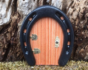 Miniature Fairy Horseshoe Door,Miniature Horseshoe Door,Miniature Handmade Door,Fairy Door,Miniature Fairy Garden Door,Miniature Gnome Door