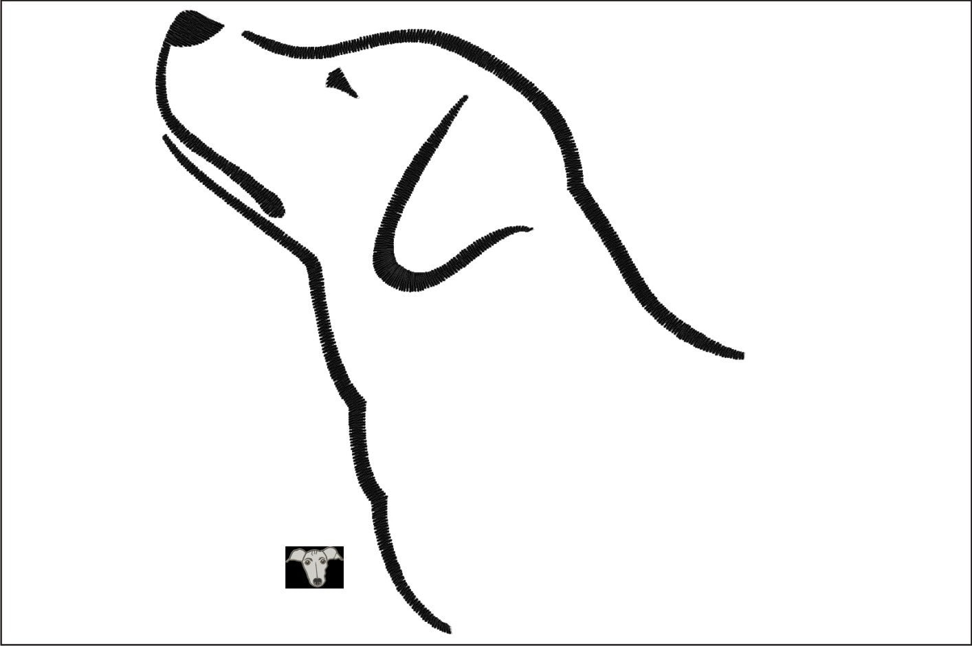 Labrador Dog Outline Designs in 5 sizes from 4ItchyEars on ...