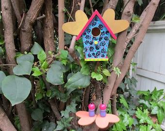 "Fun Hand Painted ""Bird"" House"