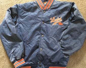 Lucky Brand satin varsity jacket