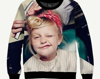 Retro Hairstyle, Hairdresser - Men's Women's Sweatshirt | Sweater - XS, S, M, L, XL, 2XL, 3XL, 4XL, 5XL