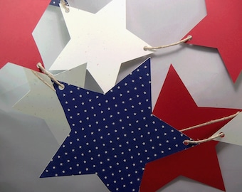 Large Star Banner Barbecue Banner Star Banner Red White Blue Celebration Decor for Patriotic Military Occasions
