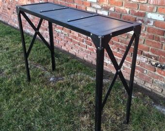 Custom Vintage Console Table,urban Credenza, Mid Century Pub Table, Sofa  Table,