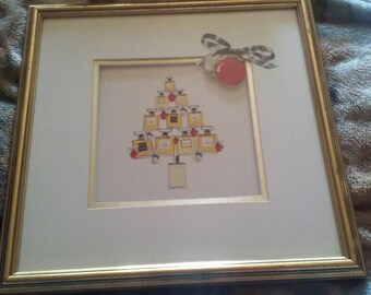 Framed Chanel perfume picture