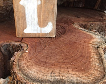 Reclaimed Wood Block Letter