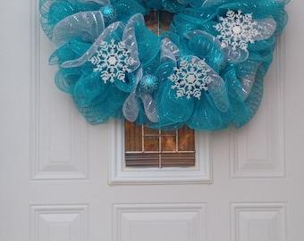 Deco Mesh Winter Wonderland Wreath