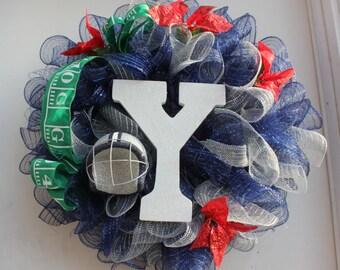 Yale College Football Wreath
