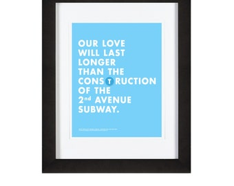 NYC Subway Poster -- 10 x 8 Graphic Design Print -- New York City Humor