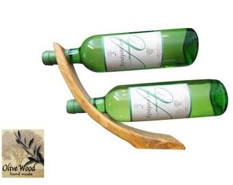 Wooden carved Double Bottle holder