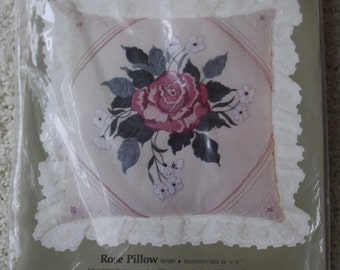 Candlewicking Kit Rose Pillow