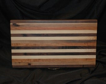 Black walnut, Hickory and cherry cutting board.