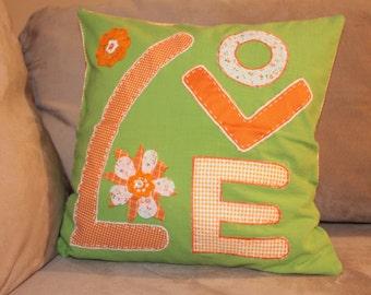 Green Love Pillow Sham