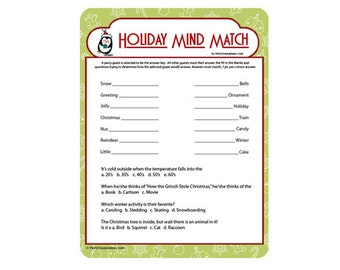 Holiday Mind Match Game - 3 Pack