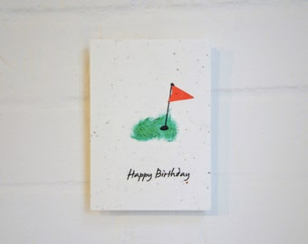 Golf Happy Birthday Plantable Card