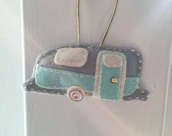 Handmade Airstream Trailer Ornament