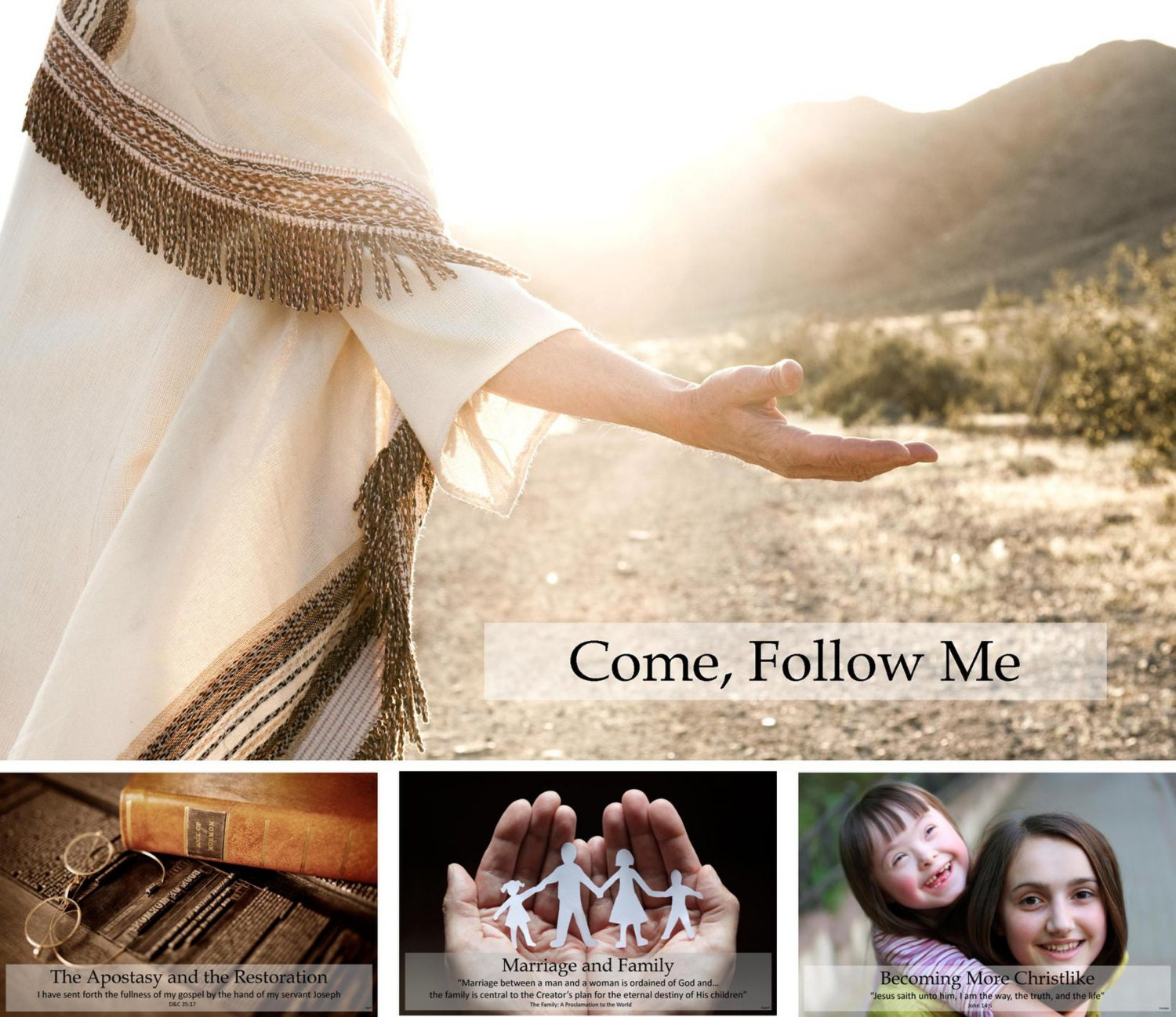 Come Follow Me Youth Theme 13-POSTER PACK color lds yw