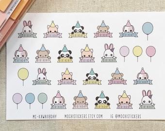 Kawaii Birthday Planner Sticker (MS-KAWAIIBDAY)