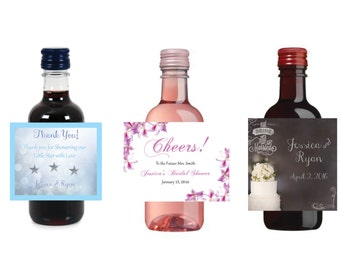 Mini Wine Bottle labels