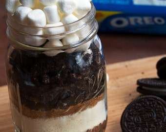 Oreo Hot Chocolate Mix in Mason Jar- Hot Cocoa, Oreo Mix in Mason Jar- Corporate Gift