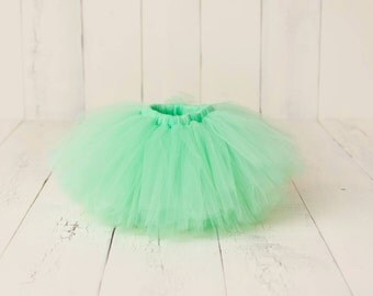 Tutu Skirt, Girls Birthday Tutu, Mint Tutu, 1st Birthday Tutu, Cake Smash Tutu