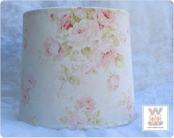 Shabby Cottage Chic Floral Baby Nursery Lampshade - Pink Floral Lampshade, Cottage Chic Lampshade - Nursery Decor - Custom Made-To-Order