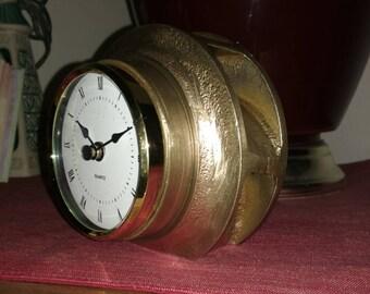 Bronze impeller desk clock