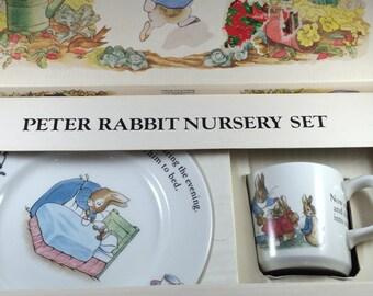 Vintage Wedgwood Peter Rabbit Nursery Set