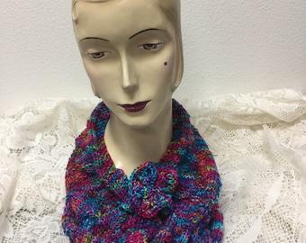 Knitted Lace Merino Aran Cowl Kit