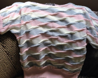 Pink & Gray Cabled Sweater