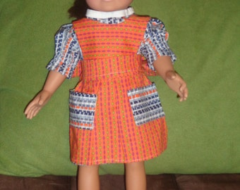 "doll dress and seperate pinaforel- fits american girl and other 18"" dolls"