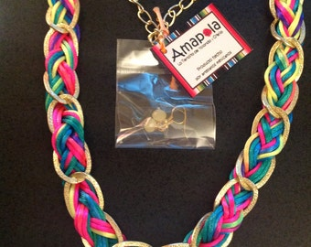 Amapola Neon Braided Cord Necklaces