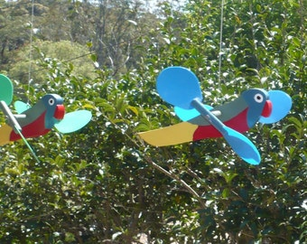 Charming hand made bird mobiles - wings spin in the breeze