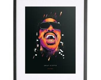 Stevie Wonder Print