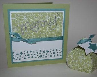 Christmas card Merry star