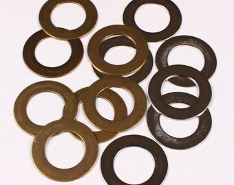 20 rings 48mm, metal, brass or silver (3688)