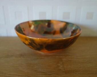 Royal Doulton rare orange Flambe bowl