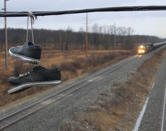 Lost Shoes - Landscape Photography - Wall Art - Nature Photography - Railroad Photography - Train Photography