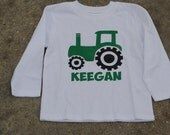 Personalized Monogrammed Boys Tractor Shirt