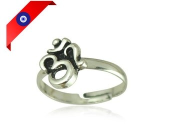 Om Ring - Silver Om Ring - Ohm Ring - Silver Ohm Ring - Om Silver - Silver Om - Om Jewelry